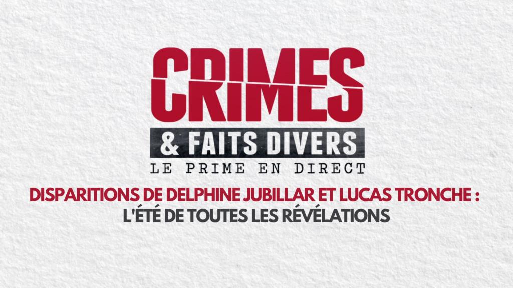 Crimes & faits divers : le prime en direct